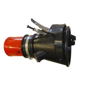 Otsik, näpitsklambri ja klapiga d=100mm