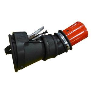 Otsik näpitsklambri, klapi ja põlvega 125/160mm, Worky