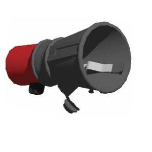 Rubber round nozzle incl clip & valve 125/160mm