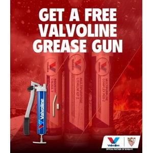 Free greasegun for 400g tube 4 cartons promo, Valvoline