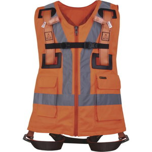 Fall arrester harness with hi-viz orange vest S/M/L, Delta Plus