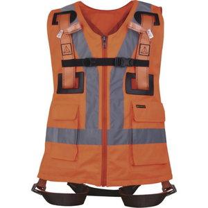 Fall arrester harness with hi-viz vest, Delta Plus