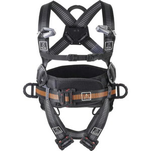 Fall arrester harness with belt, 4 anchorage points, Di-EL XL/2XL, Delta Plus