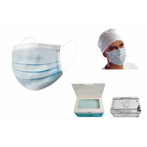 Medical face masks, blue, Delta Plus