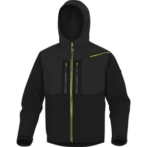 Softshell striukė su gobtuvu Horten2, black/yellow M, Delta Plus