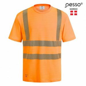 Hi.vis T-krekls HVM COTTON, oranžs XL, Pesso