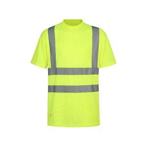 Augstas redzamības T-krekls HVM, dzeltens L, Pesso