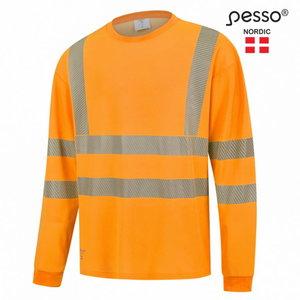 Hi. vis T-shirt HVM COTTON long sleeves, orange L, Pesso