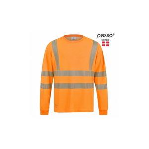 Marškinėliai HVM COTTON ilgomis rankovėmis, oranžinė, Pesso
