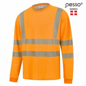 Augstas redzamības krekls HVM COTTON, oranžs XL, Pesso