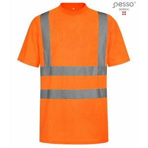 Augstas redzamības T-krekls HVM, oranžs 2XL, Pesso