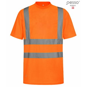 Hi. vis T-shirt HVM orange S, Pesso