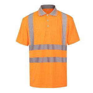 Augstas redzamības polo krekls HVP, oranžs, Pesso