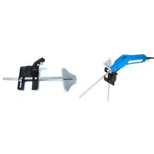 Hot foam cutter blade adapter, cutting guide