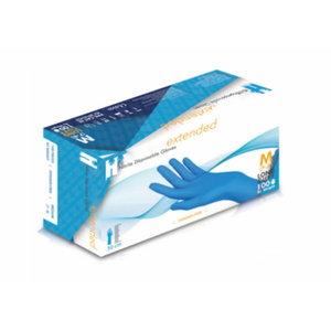 Pirštinės, vienkartinės, nitrilas, be pudros, ilgis 30 cm M, Gloves Pro®
