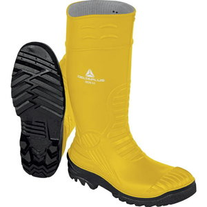 Rubber safety boots Iron S5 SRC, yellow/black, Delta Plus