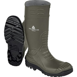 Rubber safety boots Iron S5 SRC, khaki/black, Delta Plus