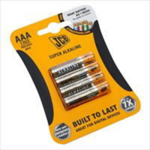 AAA Batteries ( Card of 4 ), JCB