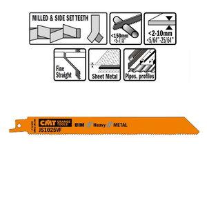 5 SABRE SAW BLADES FOR METALS (BIM) 200x1,8-2,6-14TPI, CMT