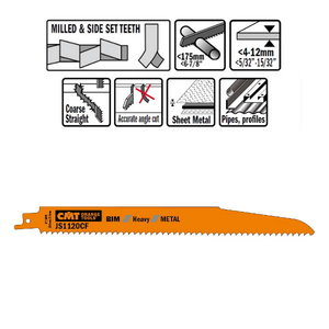 puukkosahanterä  225mm 9TPI 5 kpl, CMT