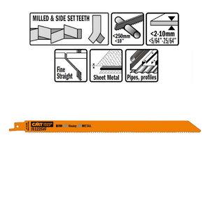 5 SABRE SAW BLADES FOR METALS (BIM) 300x1,8-2,6x10-14TPI, CMT