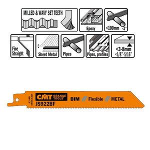 20 SABRE SAW BLADES FOR METALS (BIM) 150x1,8x14TPI, CMT