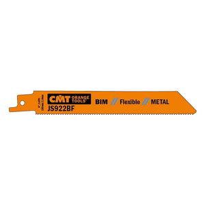 Pjūkleliai tiesiniam pjūklui 130x0,9mm BIM Co8 Z14TPI 5 vnt., CMT