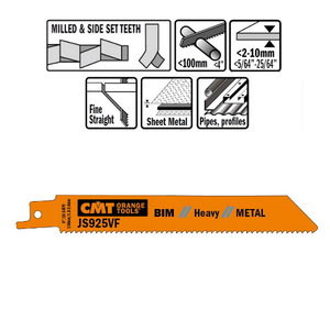 Otssaeterad metallile (BIM) 150x1,8-2,6x10-14TPI 5tk, CMT