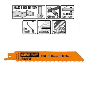 5 SABRE SAW BLADES FOR /METALS (BIM) 150x1,8-2,6x10-14TPI, CMT
