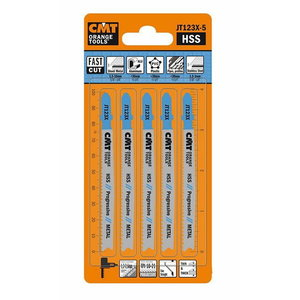 Jig saw blades for metal 75x1,2-2,6/10-21TPI 5pcs/pack, CMT