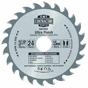 Pjovimo diskas Contractor 85x1,1/15mm Z24, CMT