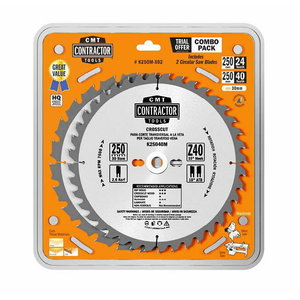 Plovimo diskų rinkinys 160x2,2/20mm Z24/40 15°/10° 3 vnt., CMT