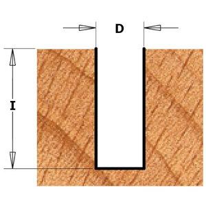 Frēzes asmens ar centra uzgali S=8mm, D=8mm, CMT