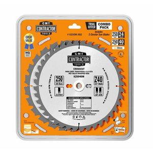 Pjovimo diskų rinkinys 216x2,4/30,  Z24/48, -5° Neg 3 vnt., CMT