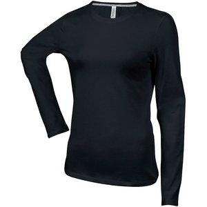 Marškinėliai Kariban LS juoda, moteriški, L