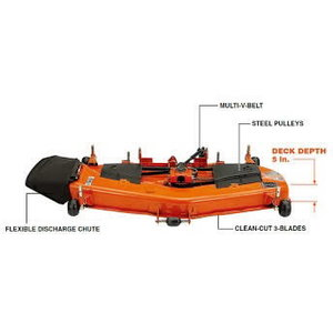 Leikkuulaite 60in/152cm sivulle purkava RCK60-35ST-EU-FW STW, Kubota