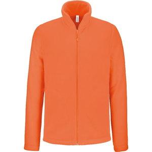 Fleece Kariba Falco, long zippered orange