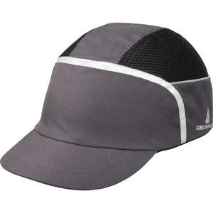 Apsauginė kepuraitė Kaizio ergonomiška,  pilka/juoda, Delta Plus