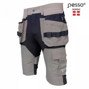 Tööpüksid lühikesed Titan Flexpro, ripptaskud, strets, beez, Pesso