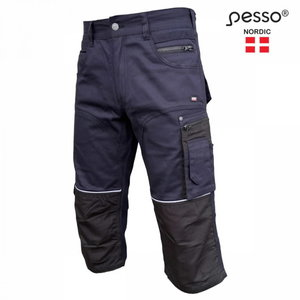 Workwear trousers 3/4 KB215M stretch, navy, Pesso