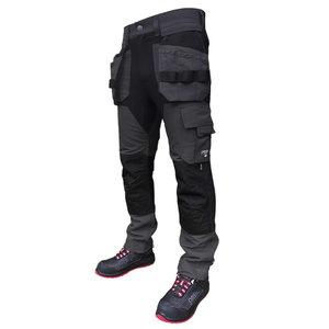 Kelnės  su kišenėmis dėklais Titan Flexpro, pilka, Pesso