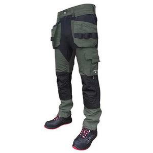 Kelnės  su kišenėmis dėklais Titan Flexpro, green C46, Pesso