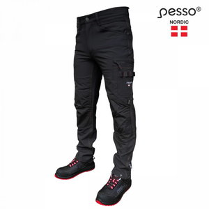 Trousers Mercury Strech, black C60, Pesso