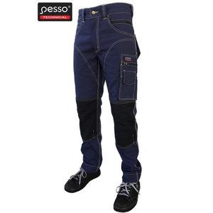 Kelnės  tamsiai pilka, tamsiai mėlyna/juoda C50, Pesso