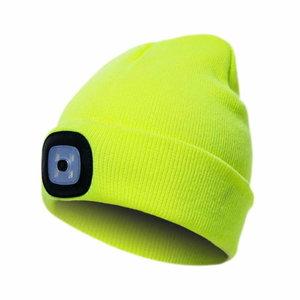 Kepurė su įkraunama LED lempute, geltona STD, Pesso