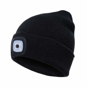 Kepurė su įkraunama LED lempute, juoda STD