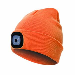 Kepurė su įkraunama LED lempute, oranžinė STD, Pesso