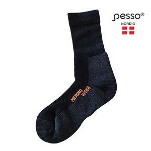 Merino vilnos kojinės  KOMER, juoda,1 pora 39-41, Pesso