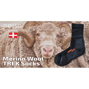 Merino wool thermal socks KOMER, black,1 pair, Pesso
