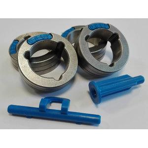 Feed rolls kit green/blue PF52/56/PowerteciC 4pcs 0,6-0,8mm, Lincoln Electric